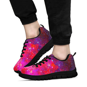 Nebula Red Galaxy Space Sneakers