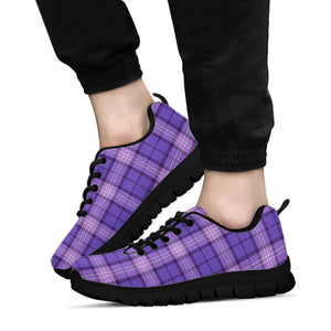 Purple Plaid Tartan Sneakers