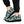 Load image into Gallery viewer, Black And Teal Cow Print Sneakers
