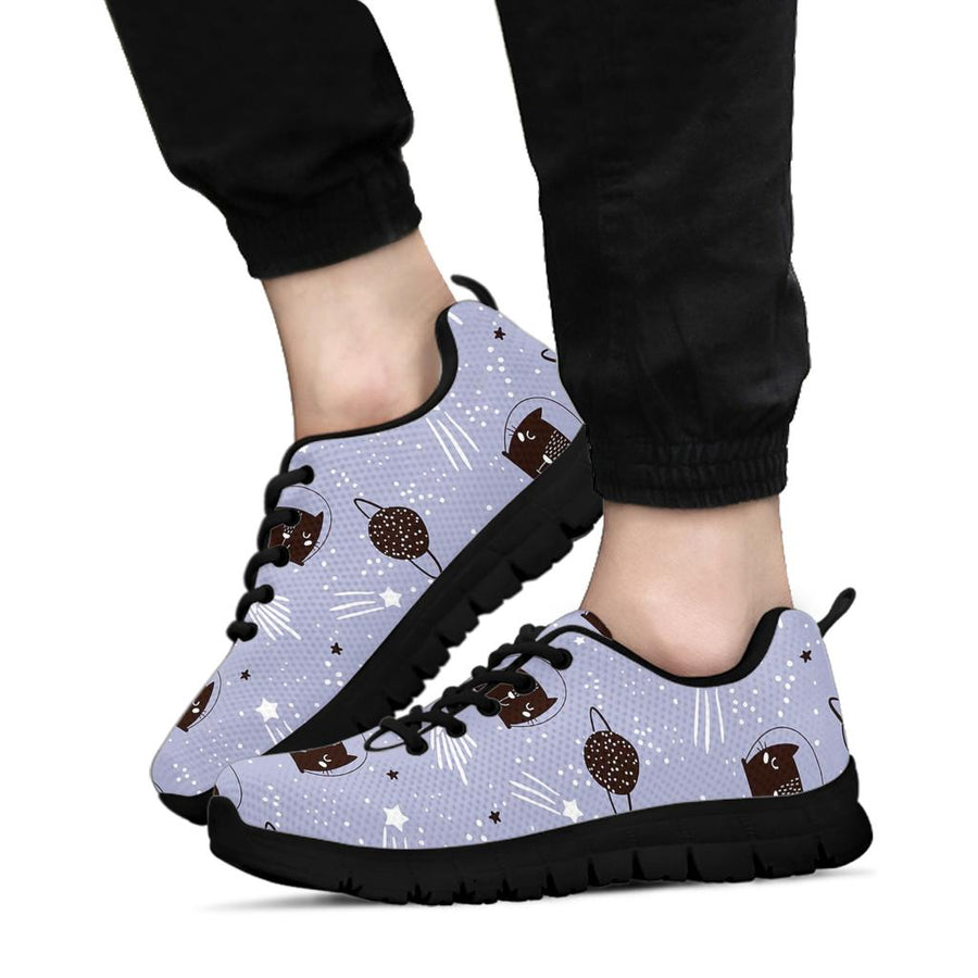 Cute Astronaut Cat Print Sneakers