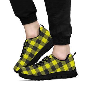 Yellow Plaid Sneakers