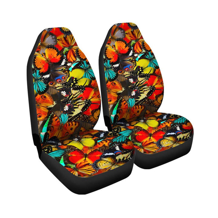 Abstract Colorful Butterfly Print Car Seat Covers