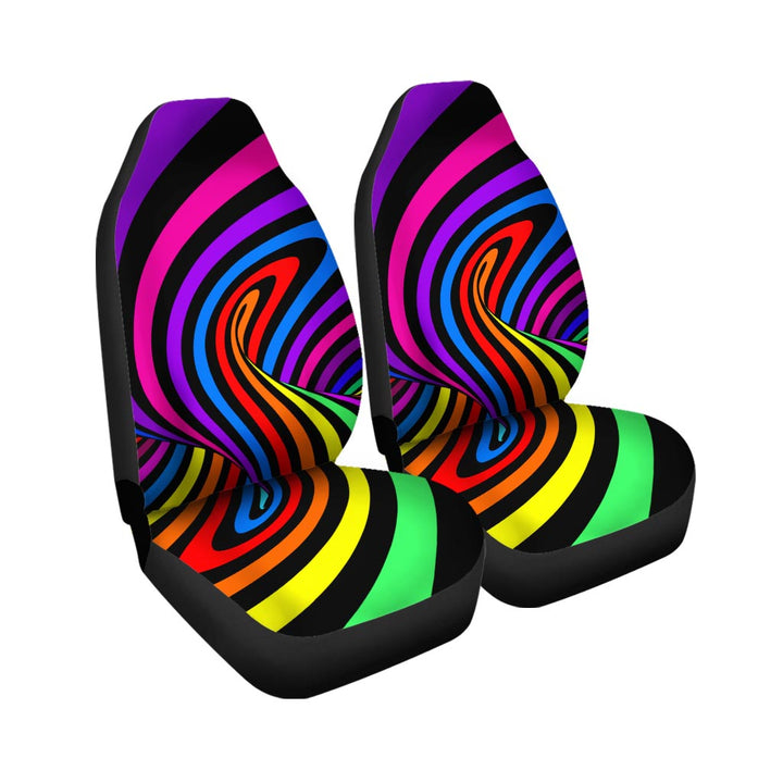 Abstract Colorful Psychedelic Car Seat Covers