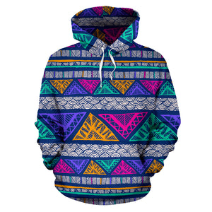 Multicolor Native Aztec Abstract Doodle Hoodie