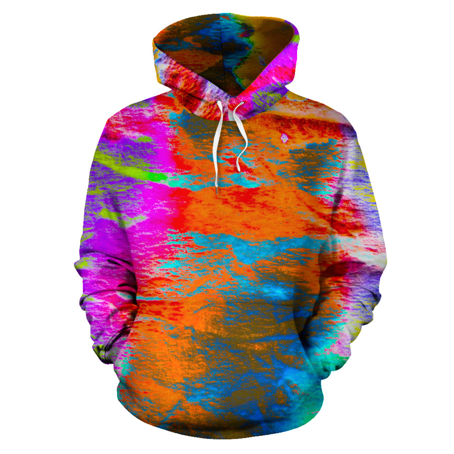 Colorful Abstract Tie Dye Hoodie