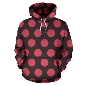 Black And Red Polka Dot Hoodie