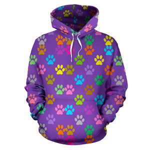 Colorful Paw Hoodie