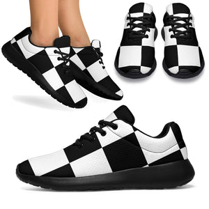 Checkered Print Running Shoes
