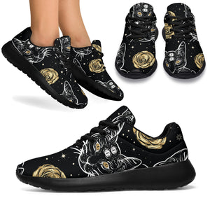 Black Cat Gothic Witch Running Shoes
