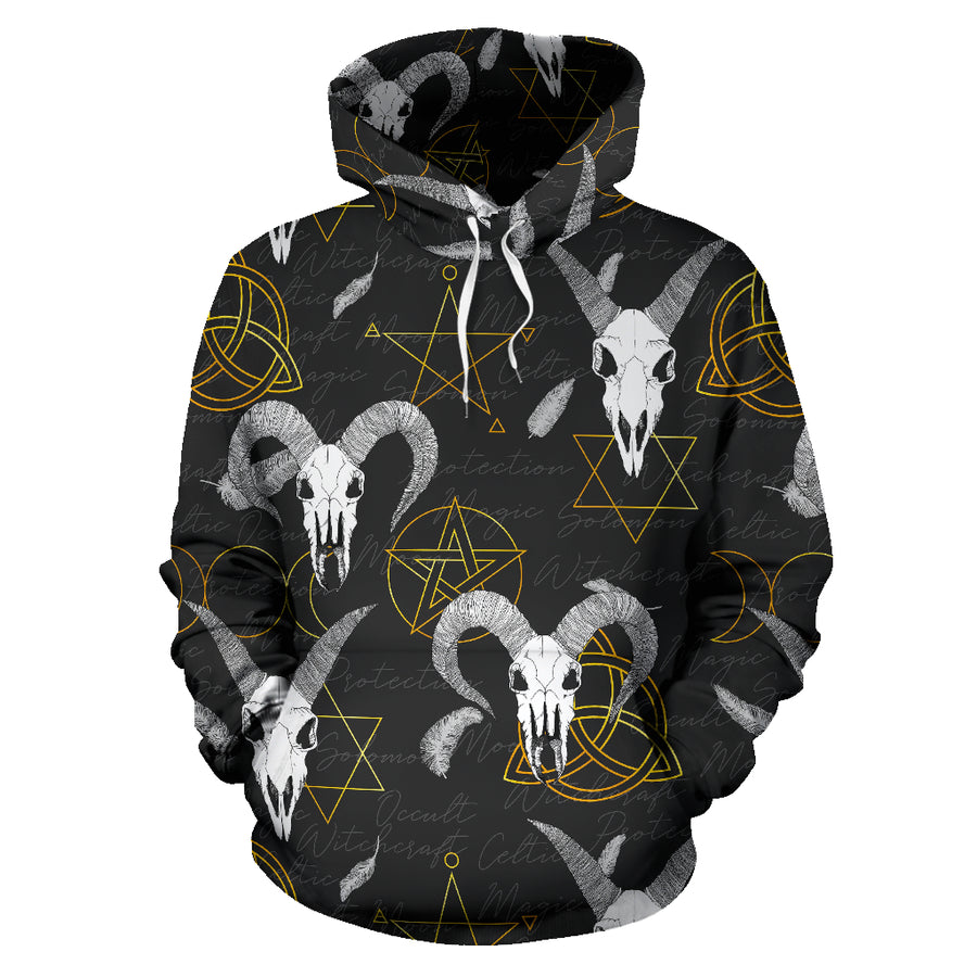 Capricorn Astrology Witch Gothic Hoodie
