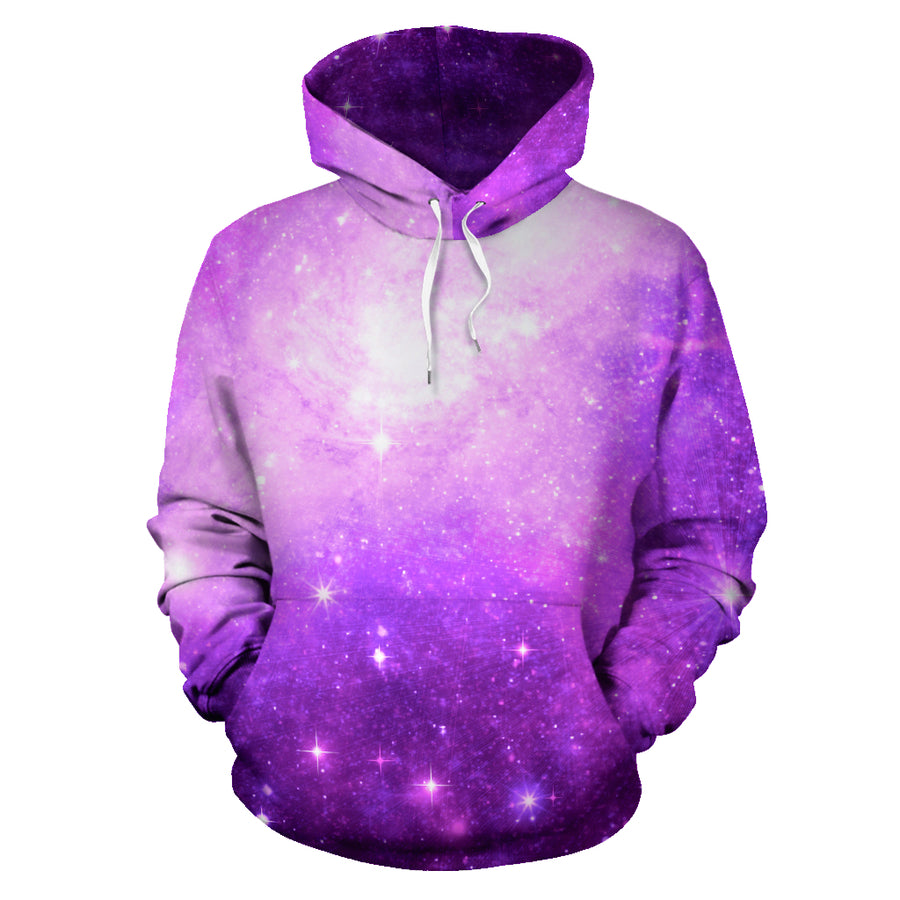 Abstract Purple Galaxy Space Hoodie