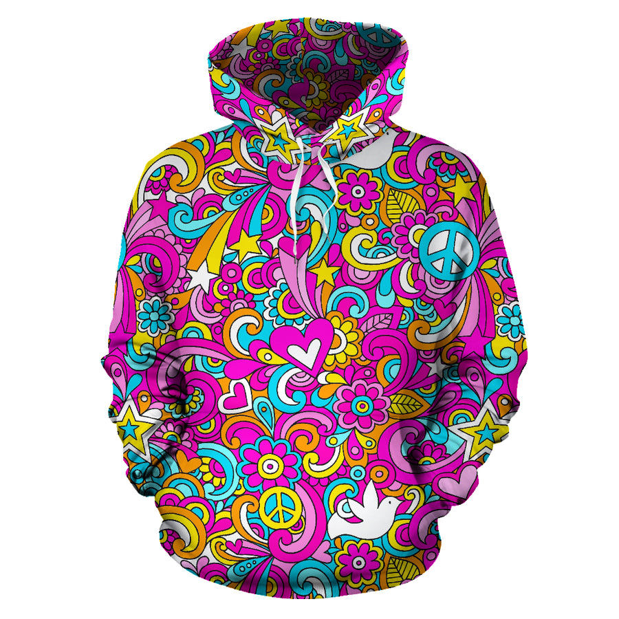 Pink Hippie Psychedelic Hoodie