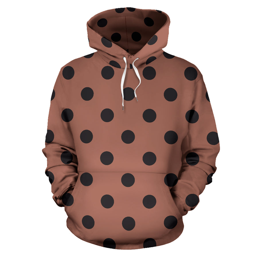 Brown And Black Polka Dot Hoodie
