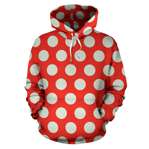 Red And White Polka Dot Hoodie