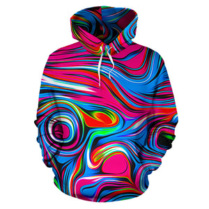 Abstract Trippy Paint Hoodie