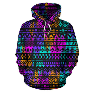 Colorful Native Aztec Geometric Hoodie
