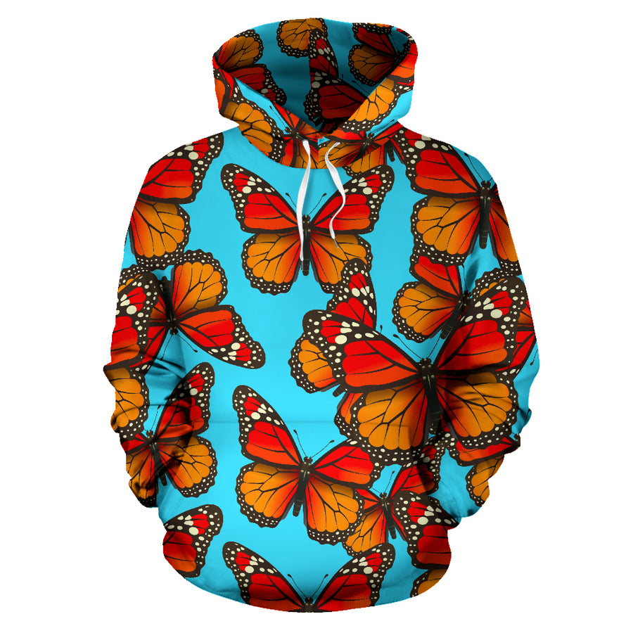 Monarch Butterfly Print Hoodie