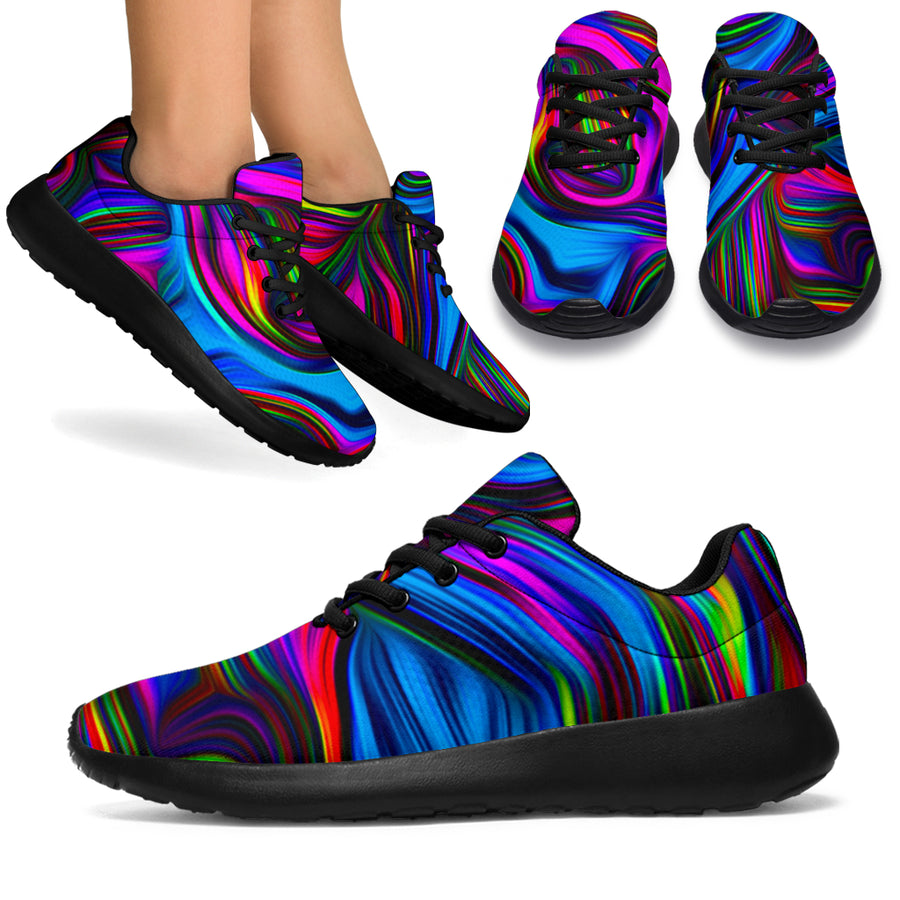 Abstract Psychedelic Running Shoes