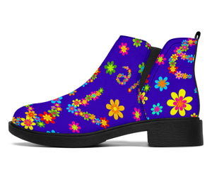 Abstract Floral Hippie Chelsea Boots