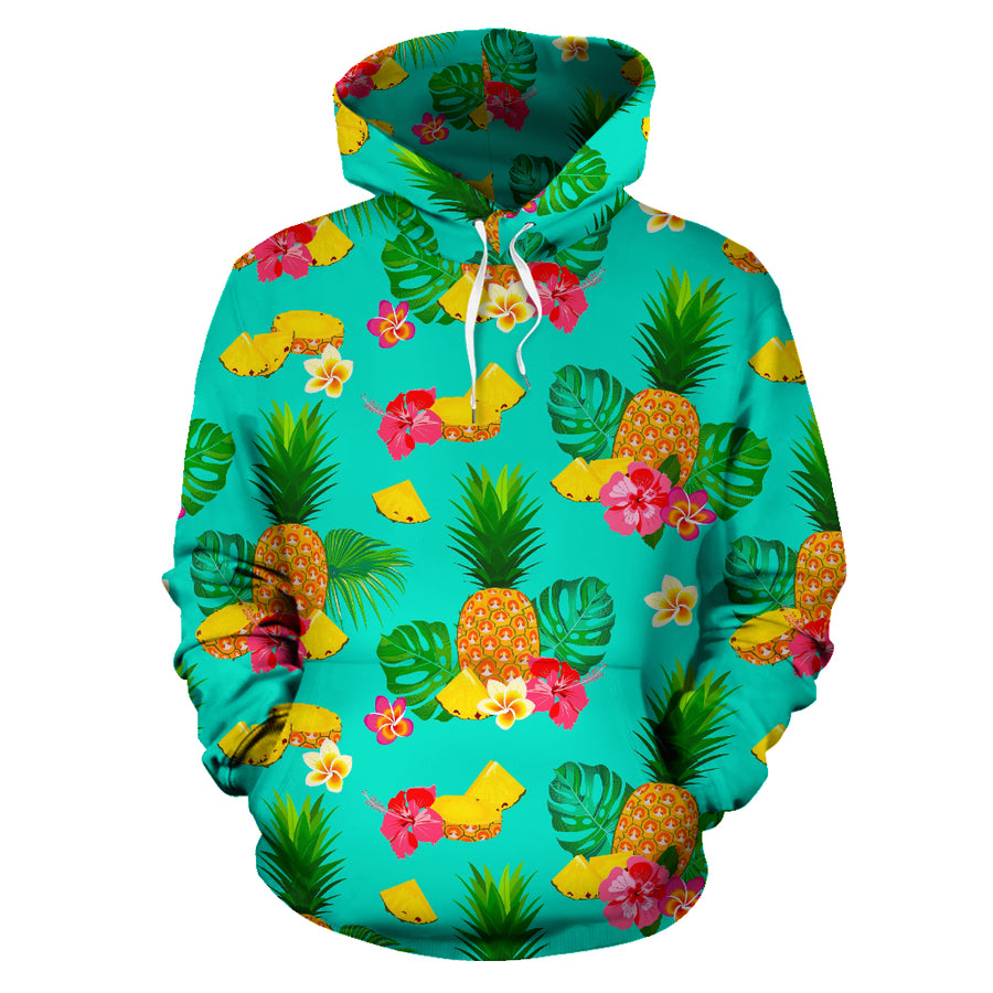 Slice Tropical Pineapple Print Hoodie