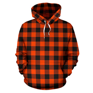 Orange Plaid Hoodie