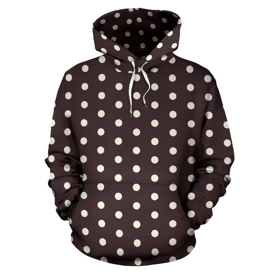 Black And White Tiniy Polka Dot Hoodie