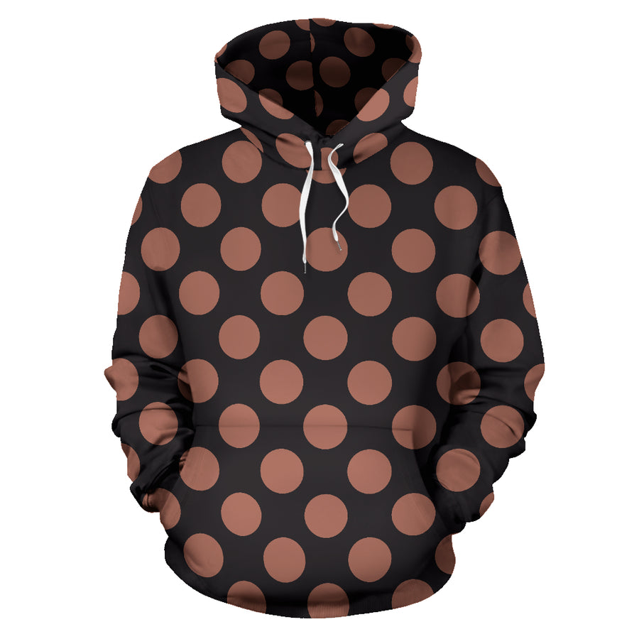 Black Brown Polka Dot Hoodie