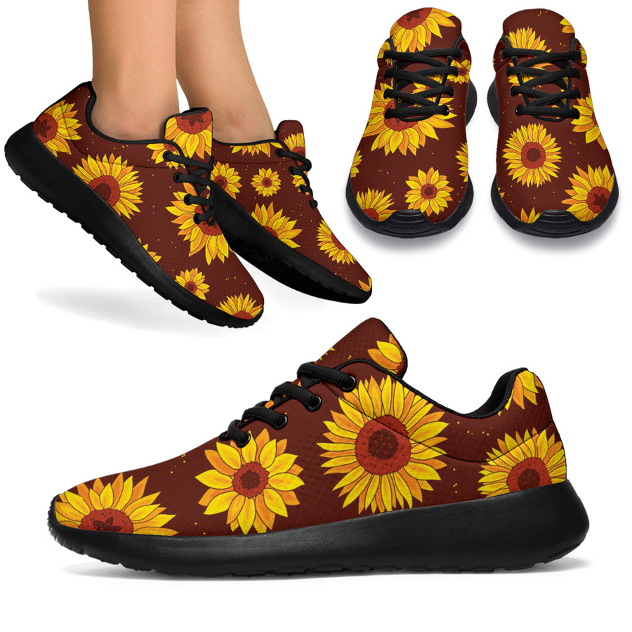 Brown Sunflower Running Shoes