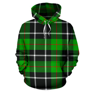Christmas Tartan Green Plaid Scottish Hoodie