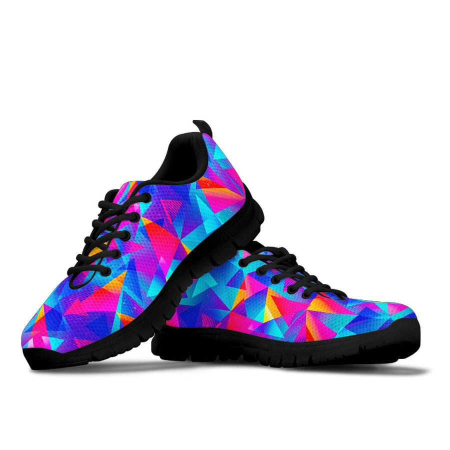 Rainbow Triangle Geometric Sneakers
