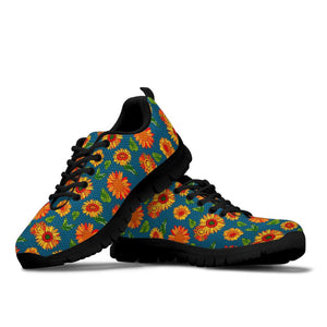 Sunflower Print Sneakers
