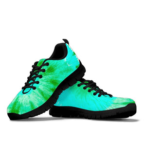 Blue And Green Tie Dye Sneakers