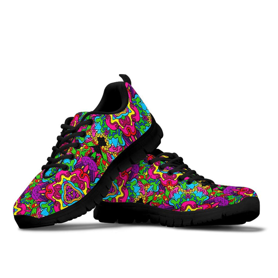 Animal Hippie Psychedelic Sneakers