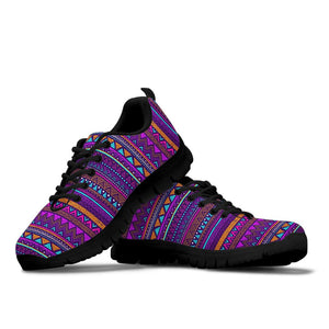 Multicolor Native Aztec Doodle Striped Sneakers