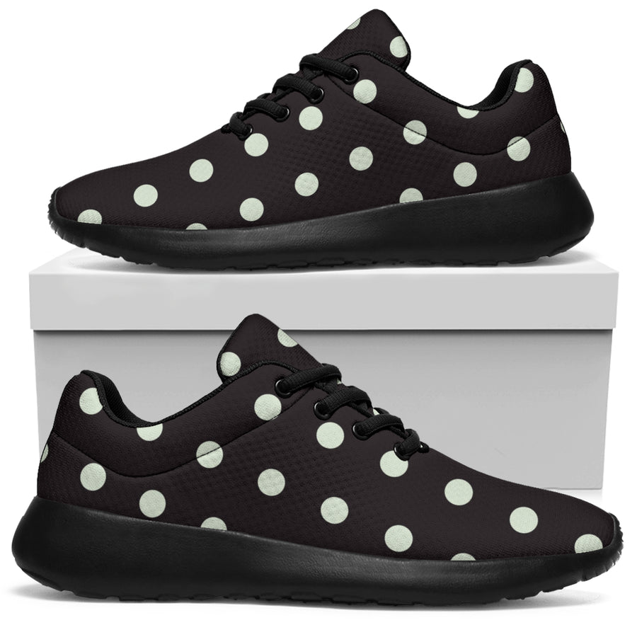 Black And White Polka Dot Running Shoes