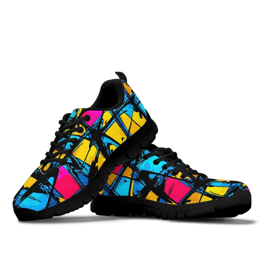 Abstract Psychedelic Graffiti Sneakers