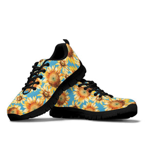 Blue Sunflower Sneakers
