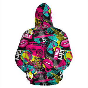 Graffiti Abstract Hiphop Lip Hoodie
