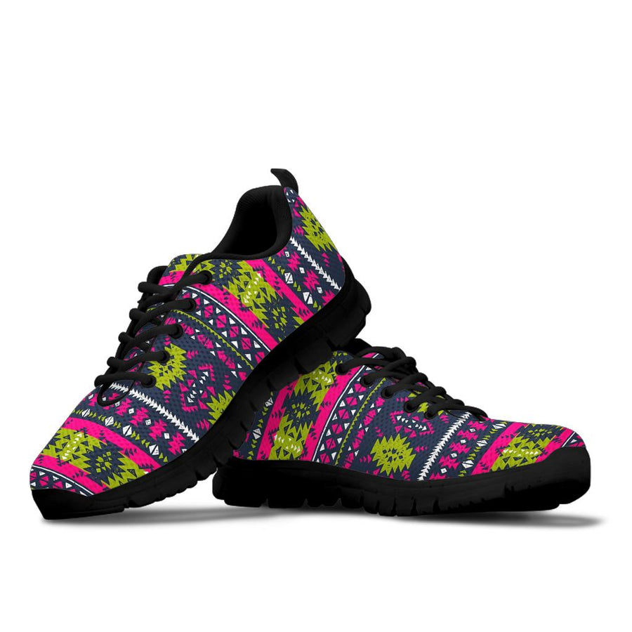 Pink Tribal Aztec Grunge Sneakers