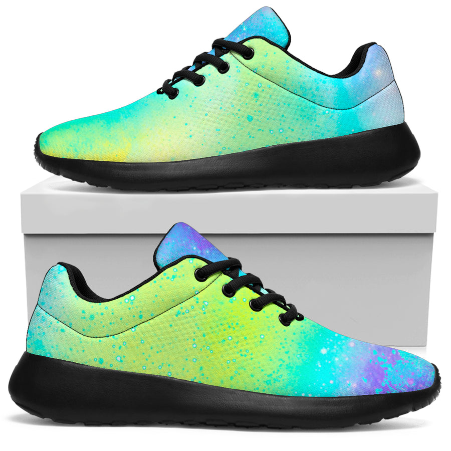 Abstract Psychedelic Holographic Running Shoes