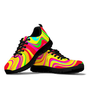Abstract Paint Sneakers