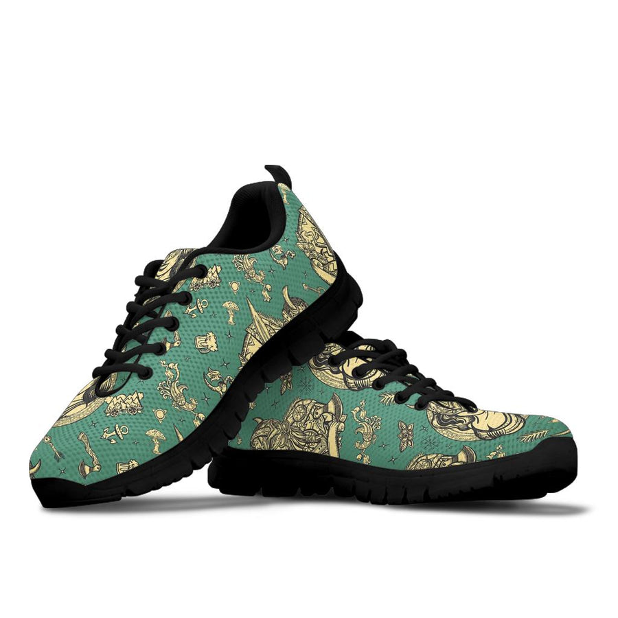 Barbarian Warrior Viking Norse Sneakers