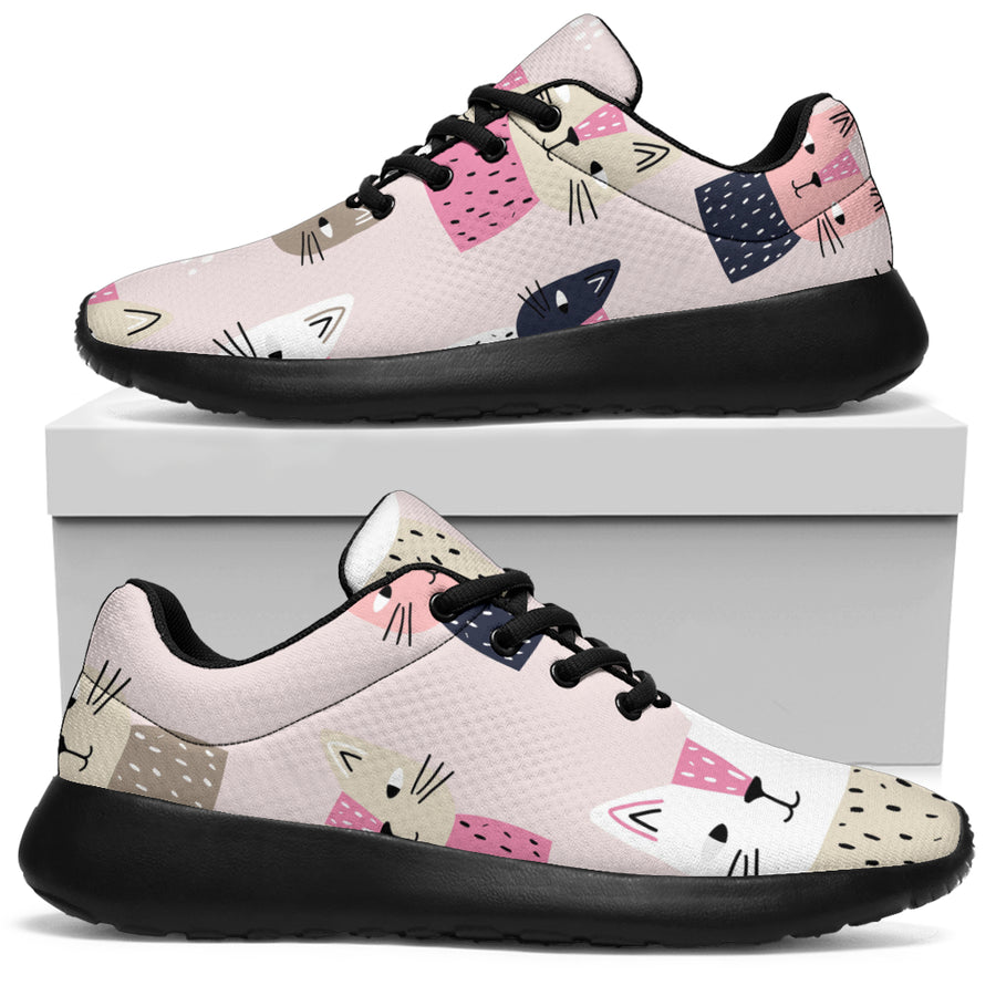 Cat Print Running Shoes