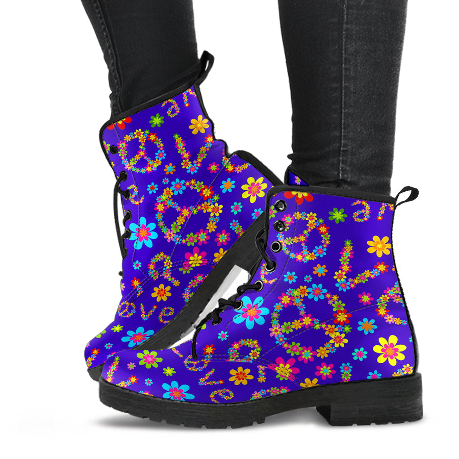Abstract Floral Hippie Boots