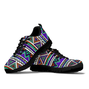 Neon Color Indian Aztec Doodle Sneakers