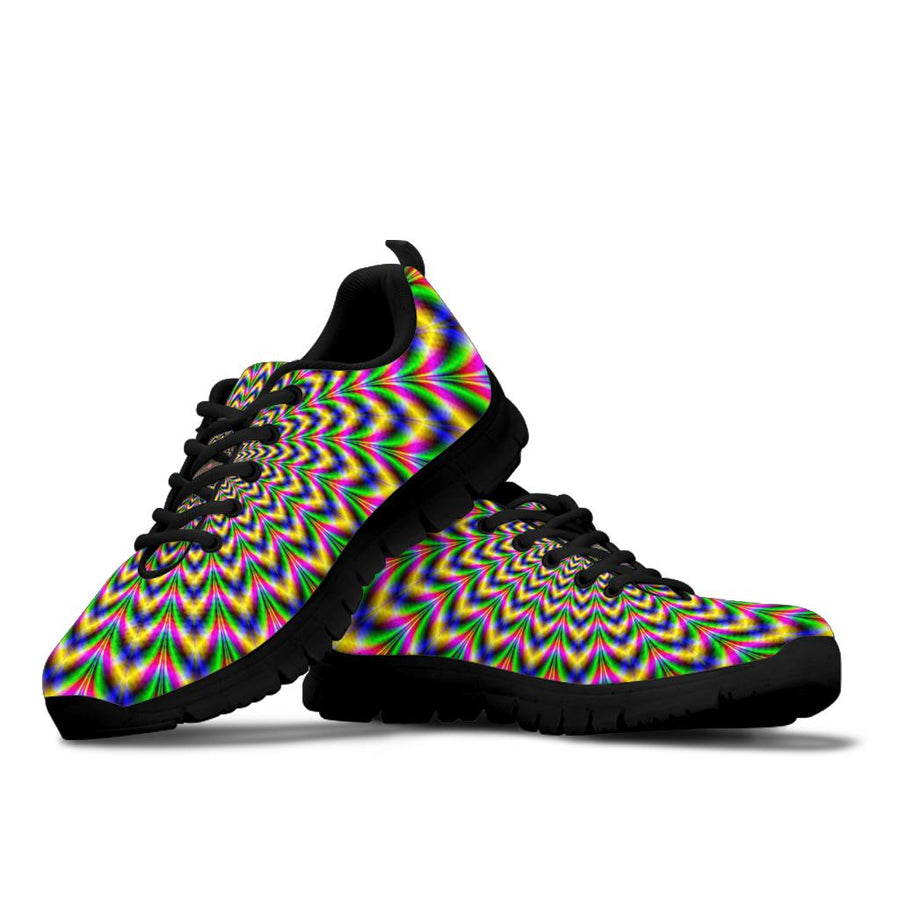 Psychedelic Blue Optical illusion Sneakers