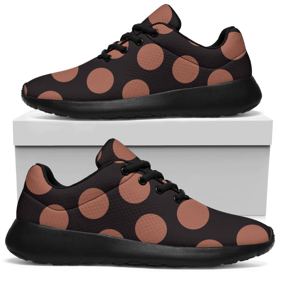 Black Brown Polka Dot Running Shoes