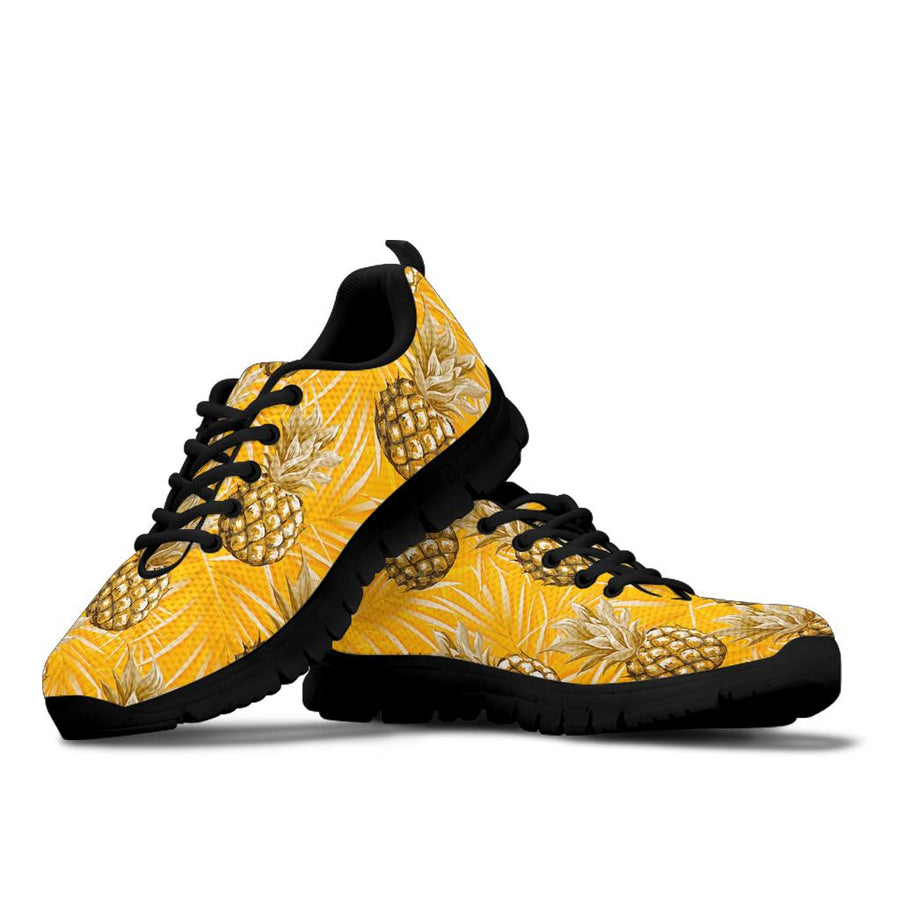 Yellow Hawaiian Pineapple Print Sneakers