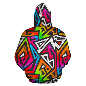 Graffiti Geometric Abstract Hoodie