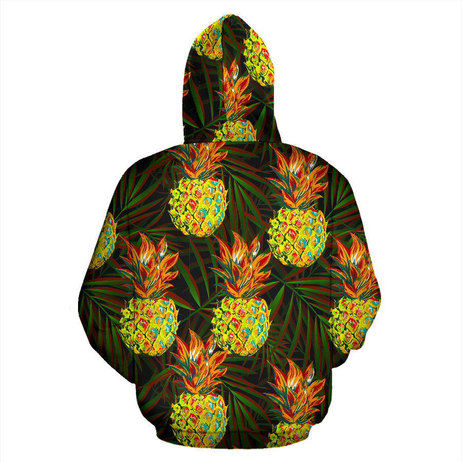 Hawaiian Golden Pineapple Edm Print Hoodie
